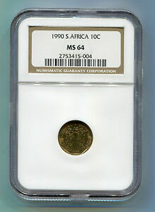 1990-South-Africa-10c-MS-64-NGC-coin