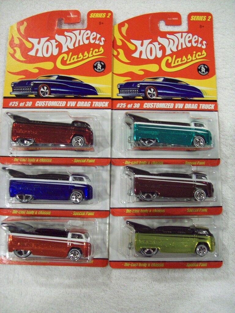 saludable '06 Hw Classics Series 2 Vw Drag camiones en en en los 6 Colors  tienda en linea