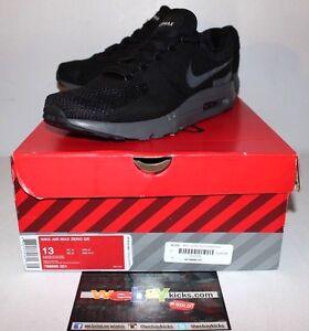 7be2a86a84 Nike Air Max Zero QS Tinker Kith Black Dark Grey Gray Sneakers Men's ...