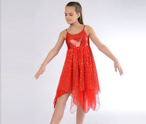 440094a98358 TO ORDER Stunning Sparkle Red Lyrical Dress Dance Costume All Sizes ...