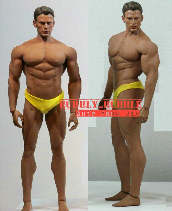 PHICEN  TBL 1 6 Captain America Chris Evan M34 sans soudure mâle Musclé Figure USA  70% de réduction