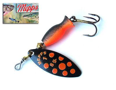4 gramm S-Blinker von Interfish,rot mit schwarz