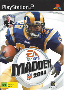MADDEN-NFL-2003-for-Playstation-2-PS2-with-box-amp-manual-PAL