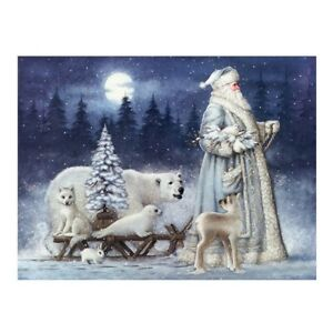 Santa-Claus-amp-Animals-5D-Diamond-Painting-Embroidery-DIY-Paint-By-Number-Kit-CQ