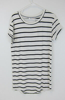 NWT Womens Premise Navy White Striped Shirt Size S Small