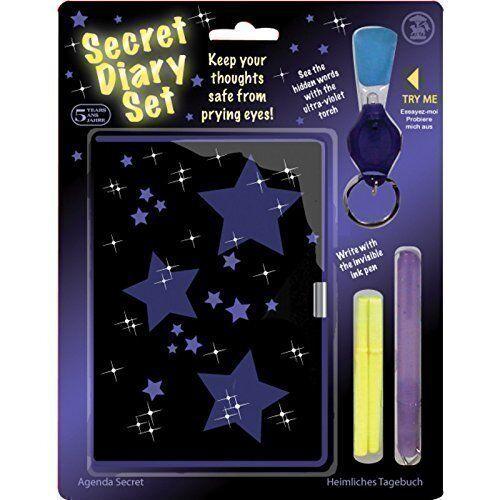 09076 Tobar top secret diary journal set avec encre invisible recharges