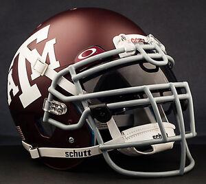 *CUSTOM* TEXAS A/&M AGGIESNCAA Schutt XP GAMEDAY Replica Football Helmet