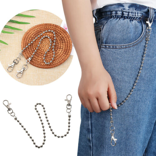 For Jeans Pants Punk Keychain  Trousers Chain Men Key Ring Wallet Belt Chain