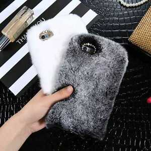 more photos 96380 632e0 Details about Luxury Furry Rabbit Fur Case Shockproof Cover for iPhone 7/7  Plus/ 6 6s+ Samsung
