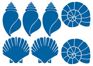 MUSCHEL-AUFKLEBER-Sticker-Deko-Bad-Meer-Maritim-Fliese-Seashell-Ocean-Wandtattoo