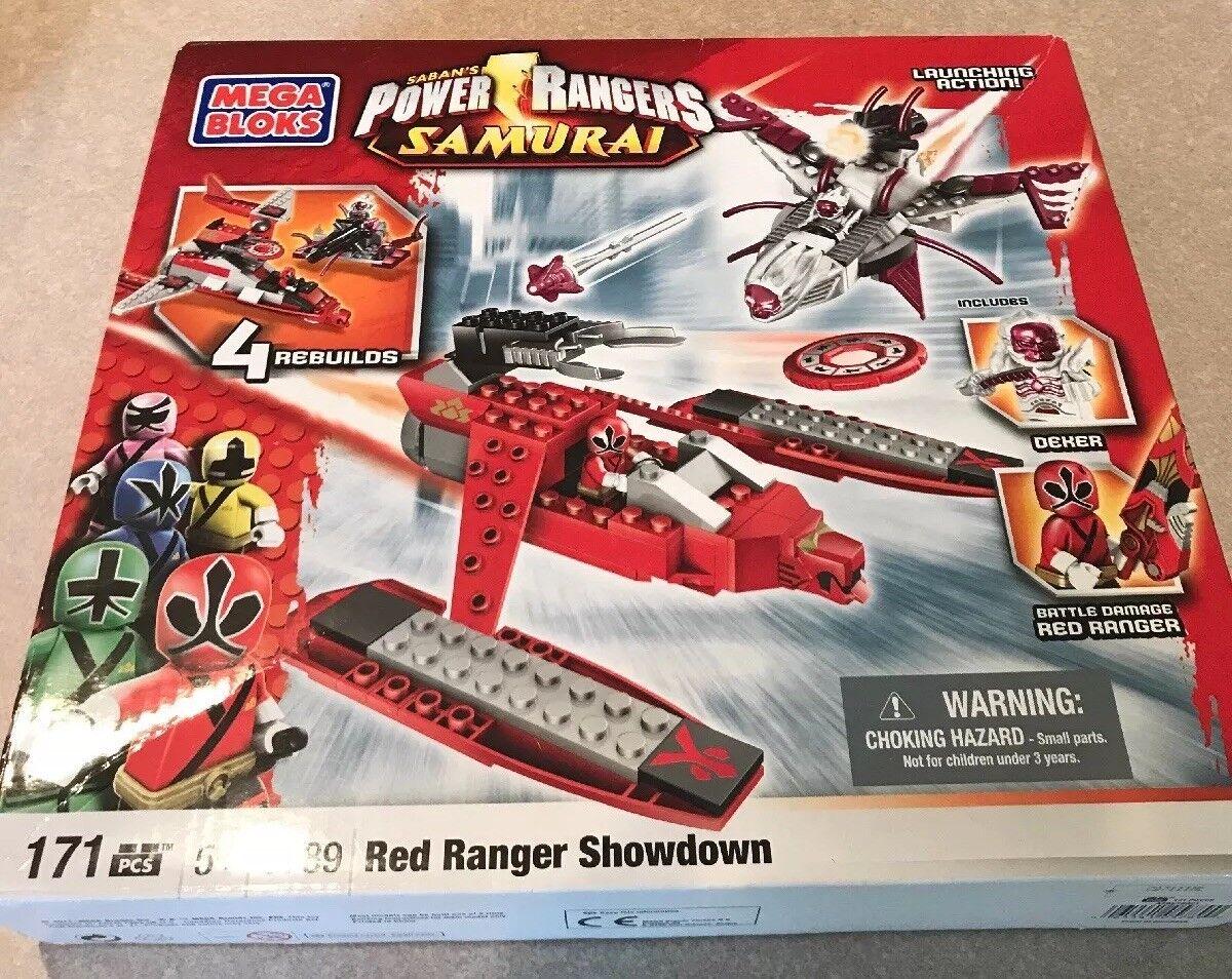 NIB Saban's Power Rangers SAMURAI Red Ranger Showdown Showdown Showdown 5789 Mega Bloks Deker NEW 6c2db5