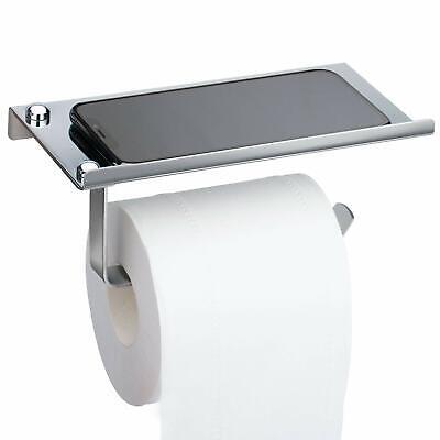 Metal Toilet Paper Holders Bathroom Wall Mount Tissue Phone Chrome Storage Shelf 5051248630196 Ebay