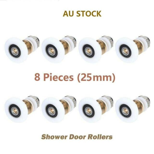 6X/8X SHOWER DOOR ROLLER WHEELS ROLLERS RUNNERS REPLACEMENT PULLEY REPLACE