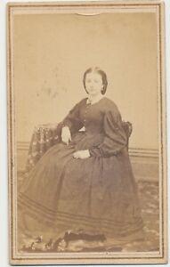 1860s-CDV-Photo-Seated-Lady-Civil-War-Tax-Revenue-Stamp-Hoop-Dress-Toledo-OH-55