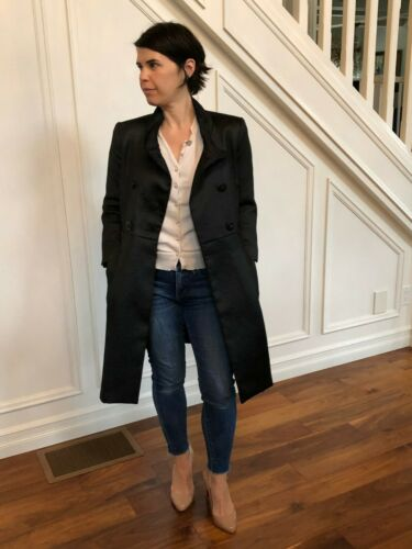 Miss Sixty embellished black jacket coat size smal
