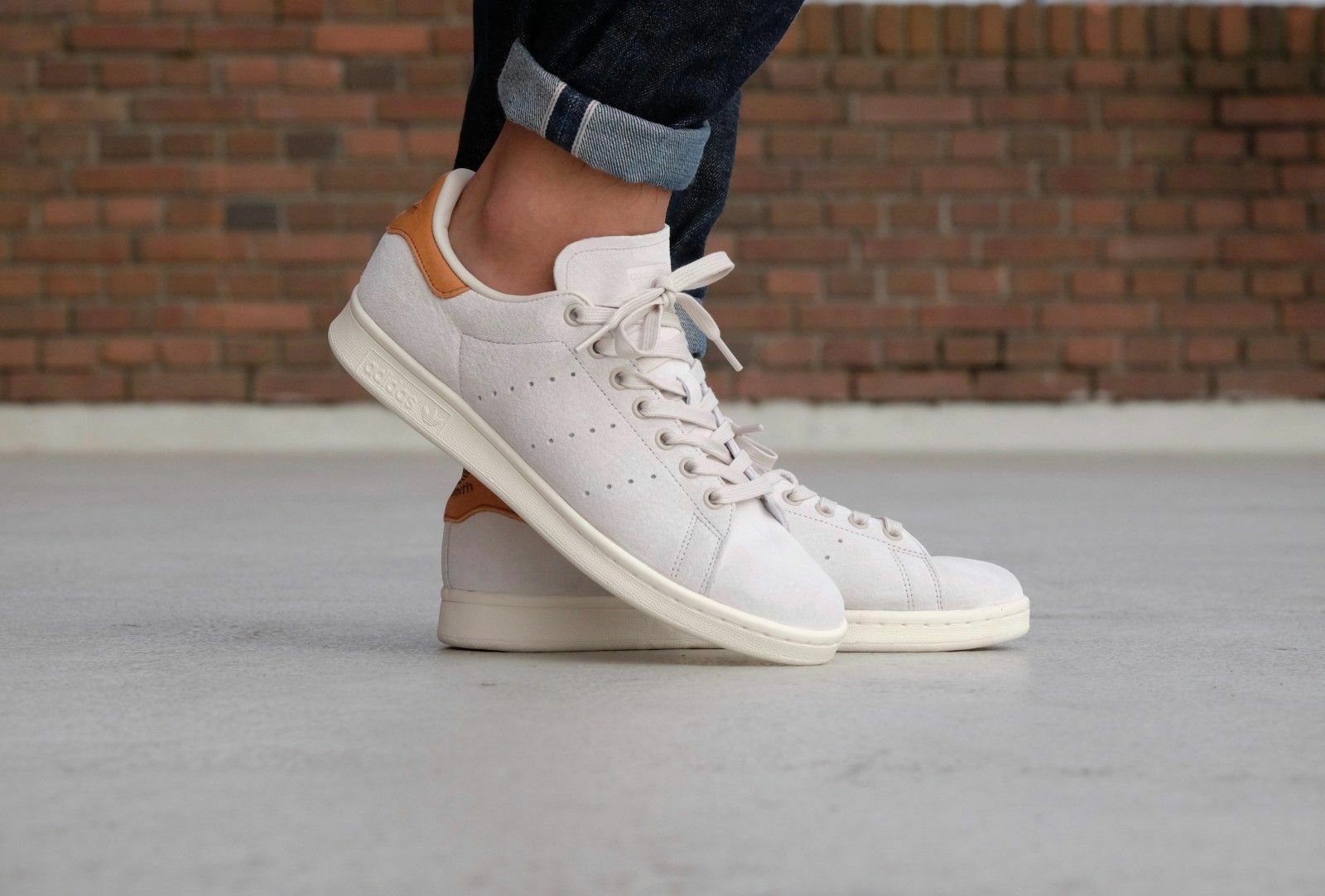 Adidas Stan Smith Originals BB0042 New Uomo's Shoes Beige