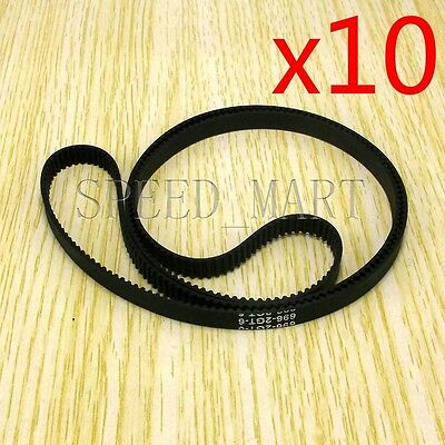 10PCS GT2 Timing Belt Annular Loop Closed Rubber 6mm Width 2mm Pitch 696-2GT