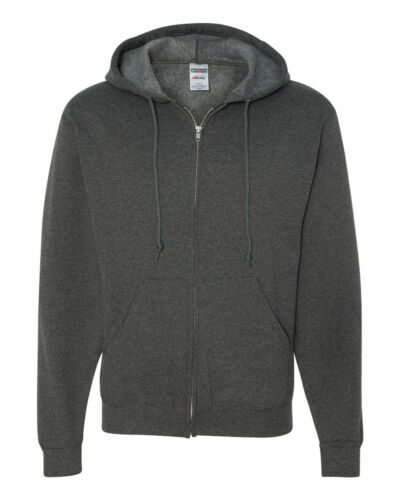 JERZEES NEW Mens Size S-3XL ZIP Nu Blend Hooded Sweatshirt Hoodie Jumper 993