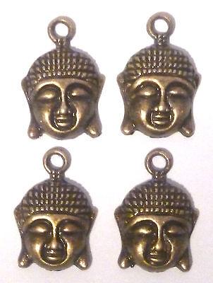 12pcs Bronze 29x19x4mm Buddha Head Alloy Pendants Charms Jewelry Crafts 33950