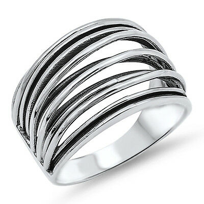 Women/'s Ribbon Bowtie Cute Unique Ring New .925 Sterling Silver Band Sizes 2-12