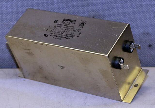 SAE HP1-10 EMI FILTER 10AMP 115//250VAC 50//60HZ 4 X 0.6MH 3 X 0.IUF MKP+ Lot 3