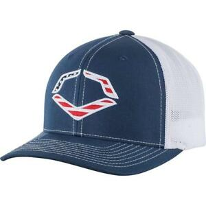 EvoShield USA Flexfit Trucker Hat-navy white Mesh S md WTV1035320410SMMD ba4973df9e77