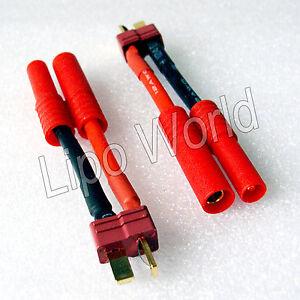 Deans-T-Stecker-auf-4mm-HXT-Buchse-12AWG-Adapter-Lade-Kabel-LiPo-Akku