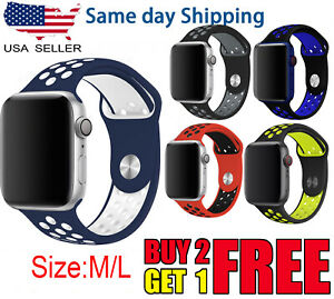 For Apple Watch Sport Band Silicone iWatch SE1 2 3 4 5 6 7 38/40/41mm 42/44/45mm