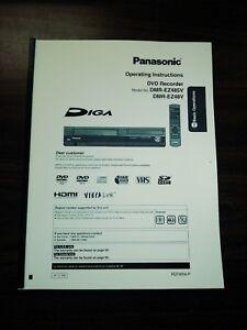 panasonic diga dmr ez48vk manual open source user manual u2022 rh dramatic varieties com Panasonic DMR EZ485V DVD Recorder VCR Combo Panasonic Professional DVD Recorder