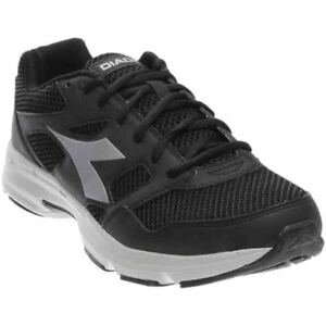 19344ddf543 Image is loading Diadora-Shape-6-Running-Shoes-Black-Silver-Mens