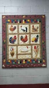 Decorative-Quilt-Featuring-several-Roostors-52-x-60-inches