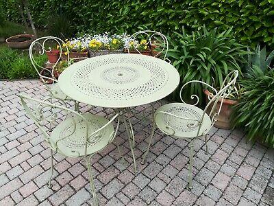 Fermob Mobili Da Giardino.Tavolo Da Giardino In Ferro Con 4 Sedie Colore Verde Tiglio
