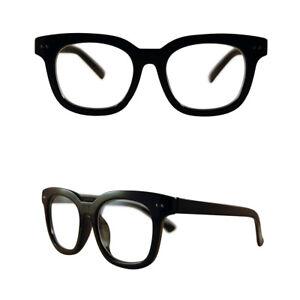 6d3bc1619c Men s Women vintage retro Style Clear Lens eye glasses thick black fashion  frame