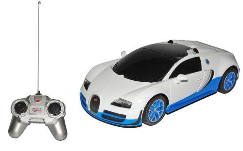Bugatti Veyron Grand Sport Vitesse weiß blau 1:24 RC ferngesteuert Rastar 47000
