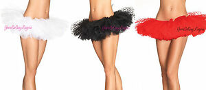 FLUFFY-LAYERED-DOTTED-TUTU-Mesh-Polka-Dots-Tulle-Ballet-Costume-RED-BLACK-WHITE
