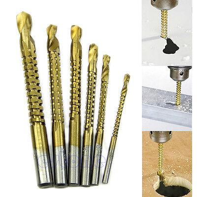 New 6pcs Woodworking Cutting Cutter Hole Saw Holesaw Wood Metal HSS Ti Drill Bit