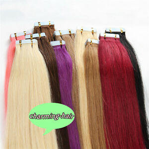 14-034-16-034-18-034-20-034-22-034-24-034-Tape-In-Skin-Weft-100-Real-Remy-Human-Hair-Extensions