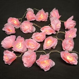 20-Light-Up-LED-Pink-Rose-Flower-Roses-Chain-Lights-Fairy-String-Lights-Garland