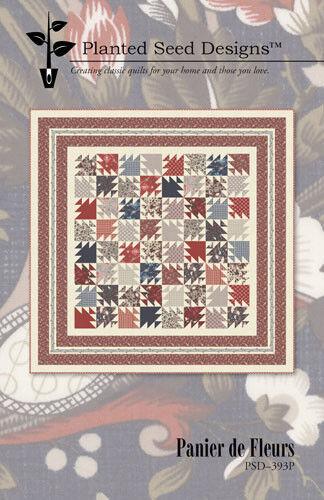 Quilt Pattern ~ PANIER DE FLEURS  ~ by Planted Seed Designs