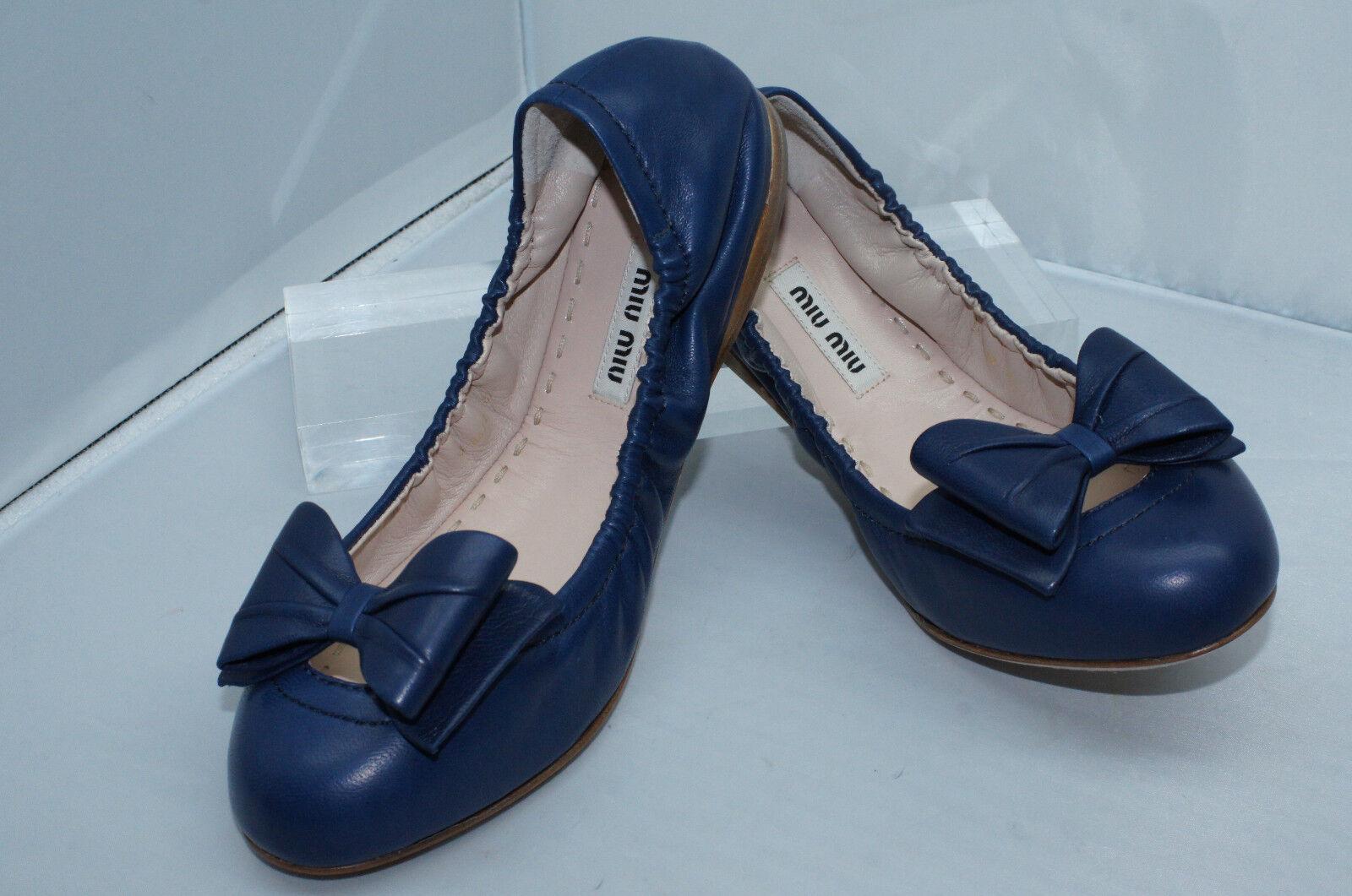New Flats Miu Miu Prada schuhes blau Ballerina Flats New Size 9 Calzature Donna ed0b4c