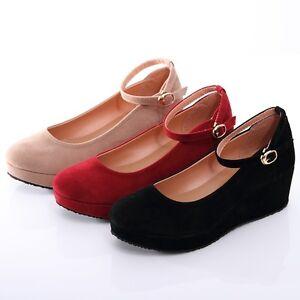 BN Womens Classic Dress Shoes Mary Jane Low Ballet Flat Platform ...