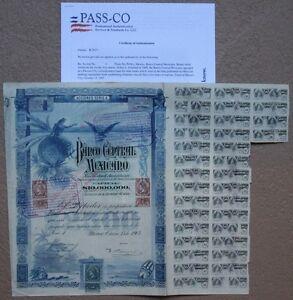MEXICO-2-500-PESOS-BANCO-CENTRAL-MEXICANO-1903-MEXICAN-BOND-aka-BLUEBERRY