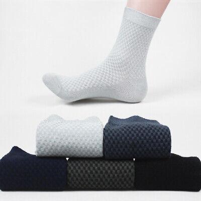 Mens Bamboo Fiber Breatheable Socks Casual Anti-Bacterial Deodorant Work Socks