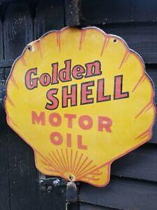 Shell enamel sign shell Motor oil enamel sign shell porcelain enamel sign