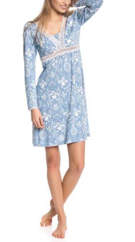 VIVE MARIA Damen Nachtkleid Nachthemd Nightdress Spitze floraler All Over Druck