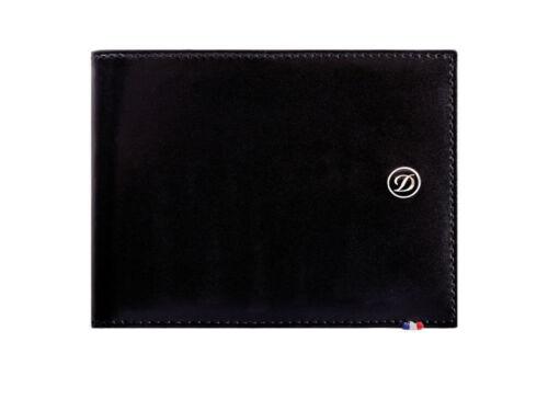 ST Dupont Line D Black Leather 6cc Billfold Wallet ST180000