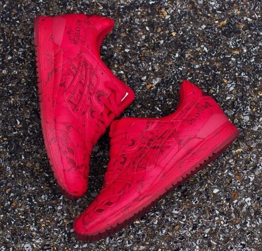 ASICS GEL LYTE III MEN H627L 2323 MARBLE PACK MEN III RUNNING SHOES CLASSIC RED d20144
