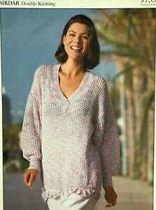 Knitting Pattern For DK ladies Dress With Back Opening  30//40""