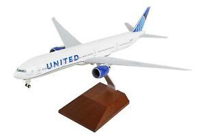SKYMARKS UNITED Boeing 777-300 REG#N2749U 1/200 W/WOOD STAND 2019 NEW LIVERY NIB