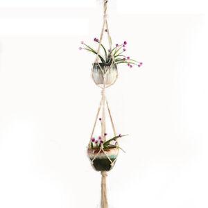 Pot-Holder-Macrame-Plant-Hanger-Hanging-Planter-Basket-Jute-Rope-Braided-IN